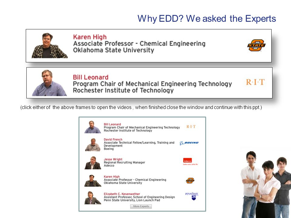 Why EDD We asked the Experts