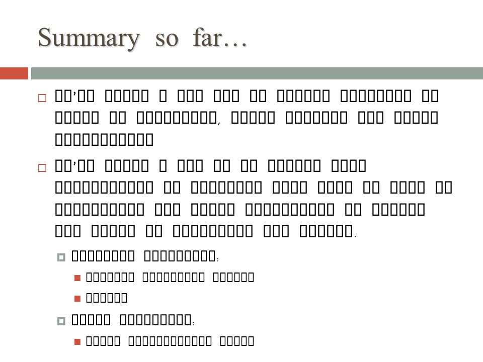 Summary so far… We've found a new way to define problems in terms of variables, their domains and their constraints.