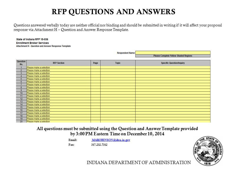 Enrollment broker services ppt download for Respond to rfp template