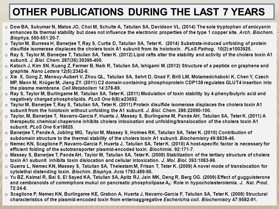 OTHER PUBLICATIONS DURING THE LAST 7 YEARS