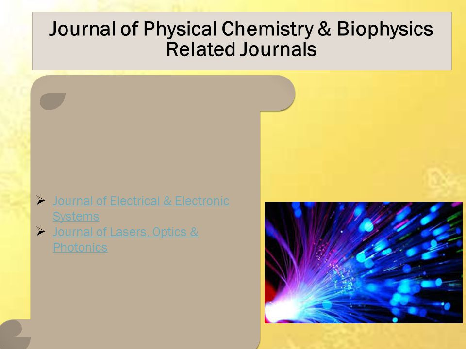 Journal of Physical Chemistry & Biophysics Related Journals