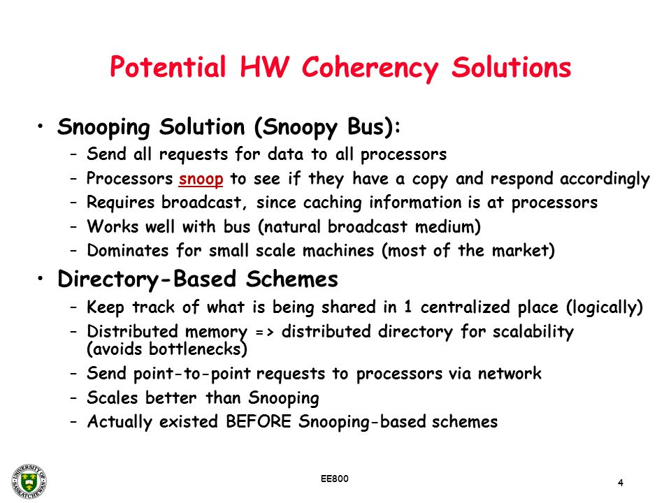 Potential HW Coherency Solutions