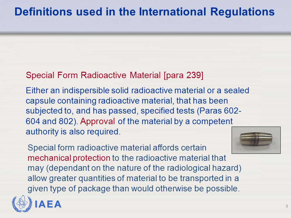 Definitions used in the International Regulations