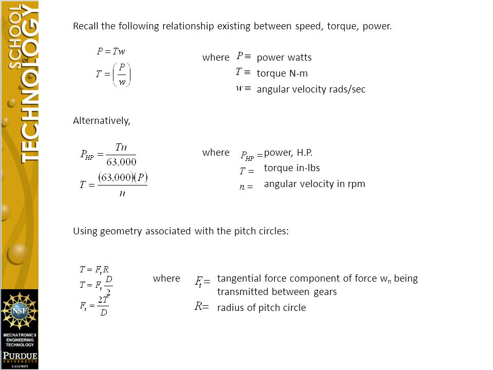 angular velocity rads/sec Alternatively, where power, H.P.