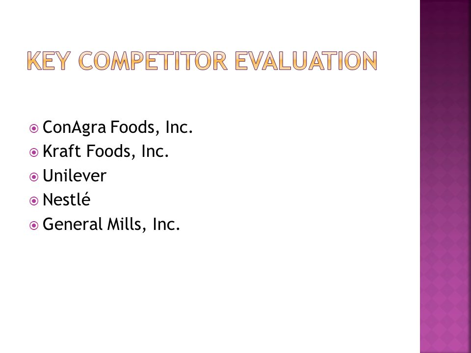 Key Competitor Evaluation