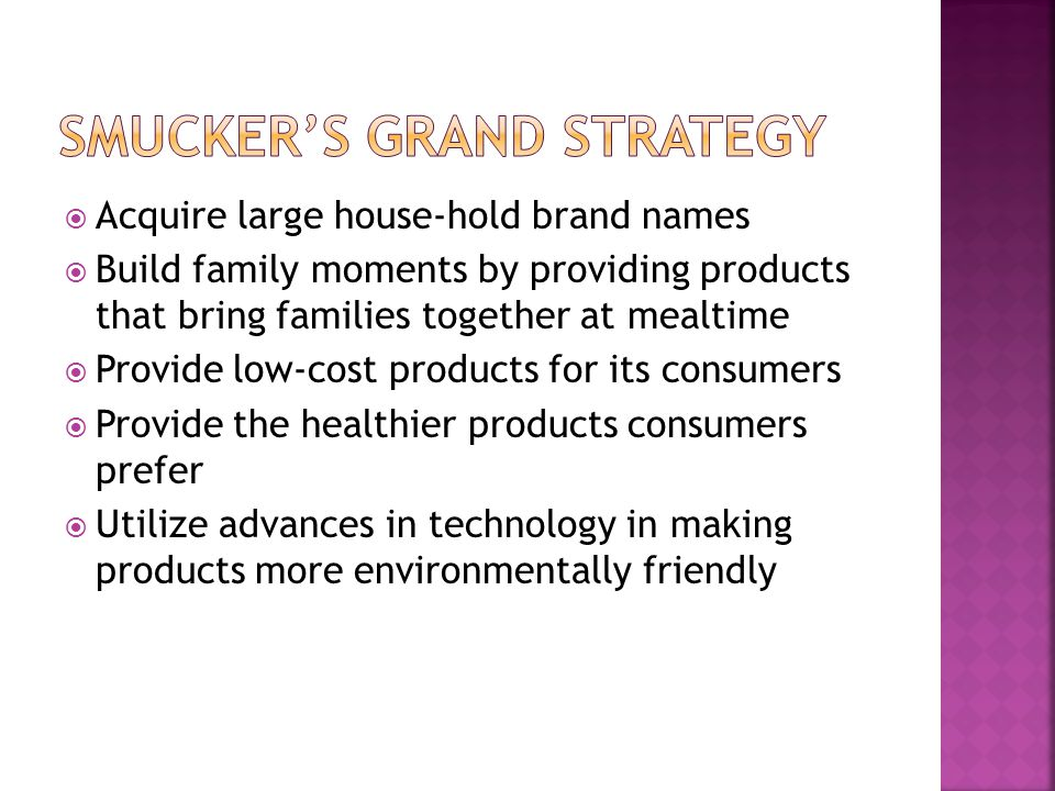 Smucker's Grand Strategy