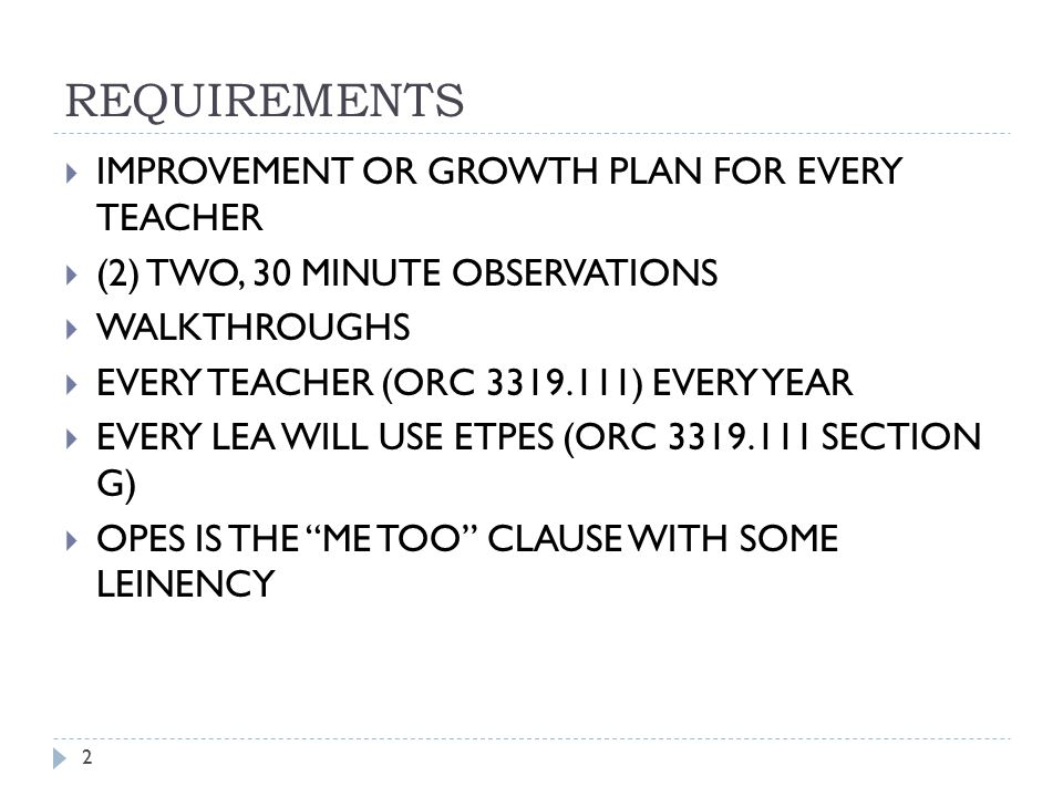 REQUIREMENTS IMPROVEMENT OR GROWTH PLAN FOR EVERY TEACHER