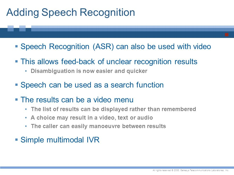 Adding Speech Recognition