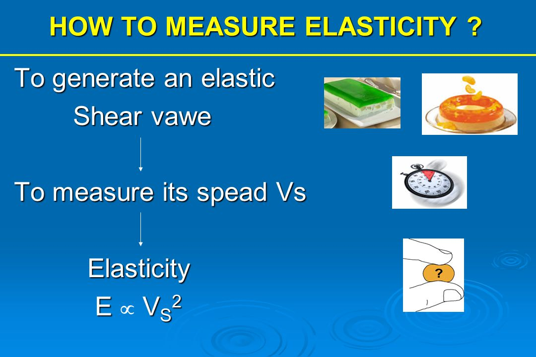 HOW TO MEASURE ELASTICITY