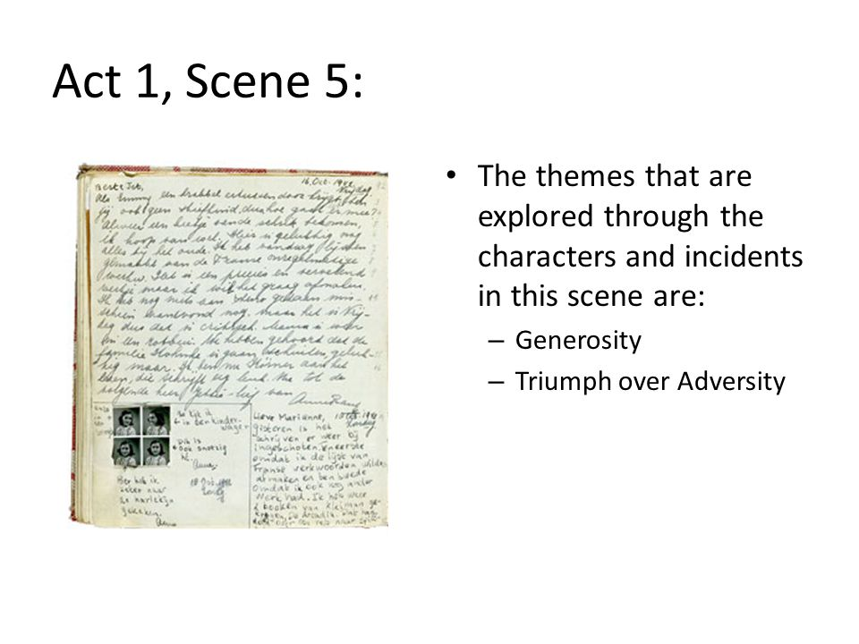 Act 1, Scene 5: The themes that are explored through the characters and incidents in this scene are: