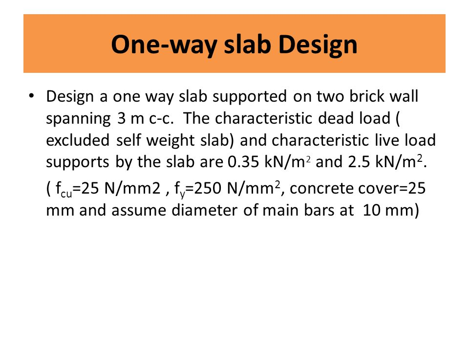 One-way slab Design