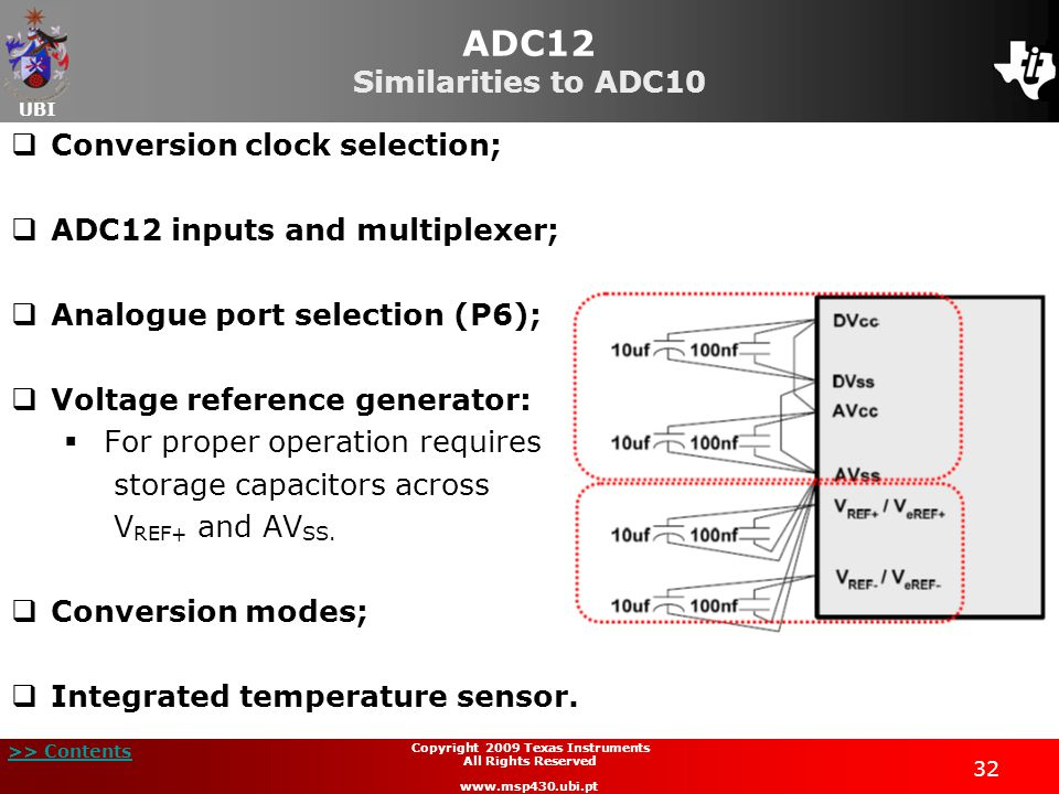 ADC12 Similarities to ADC10