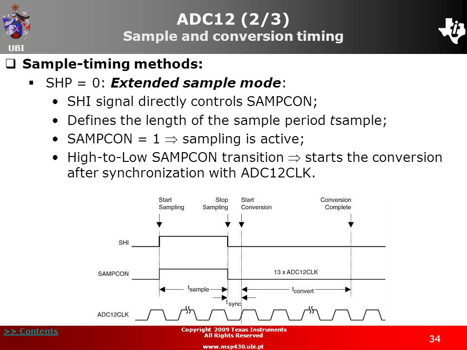 ADC12 (2/3) Sample and conversion timing