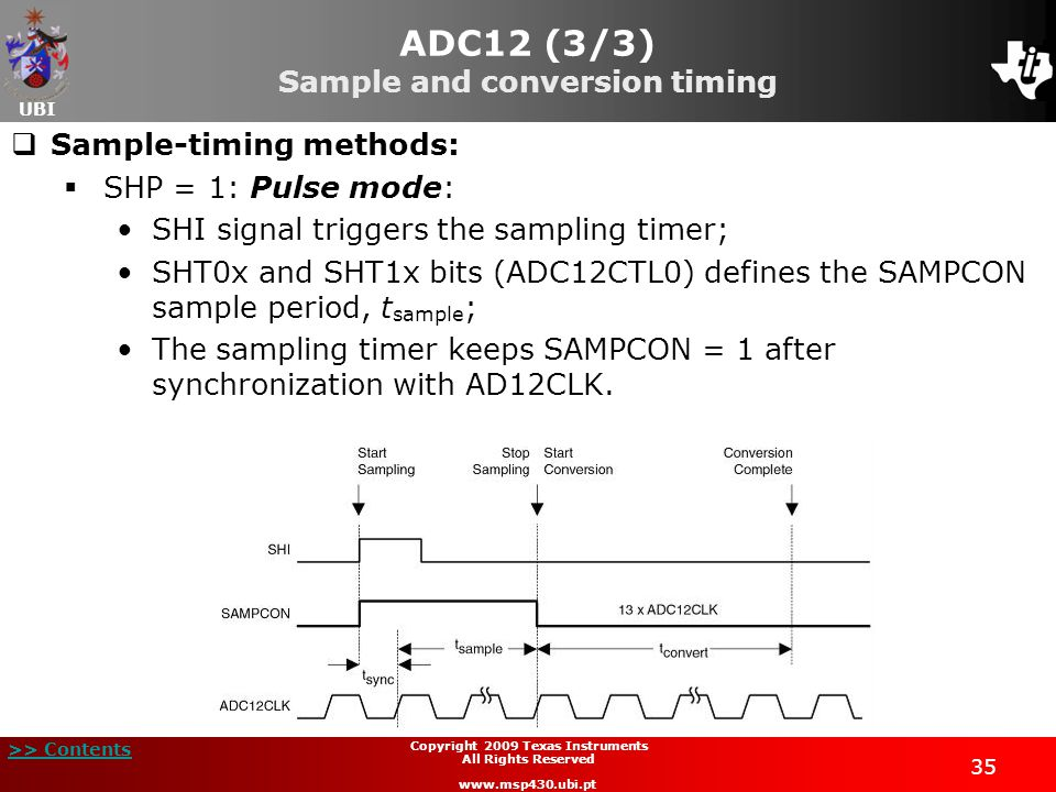 ADC12 (3/3) Sample and conversion timing