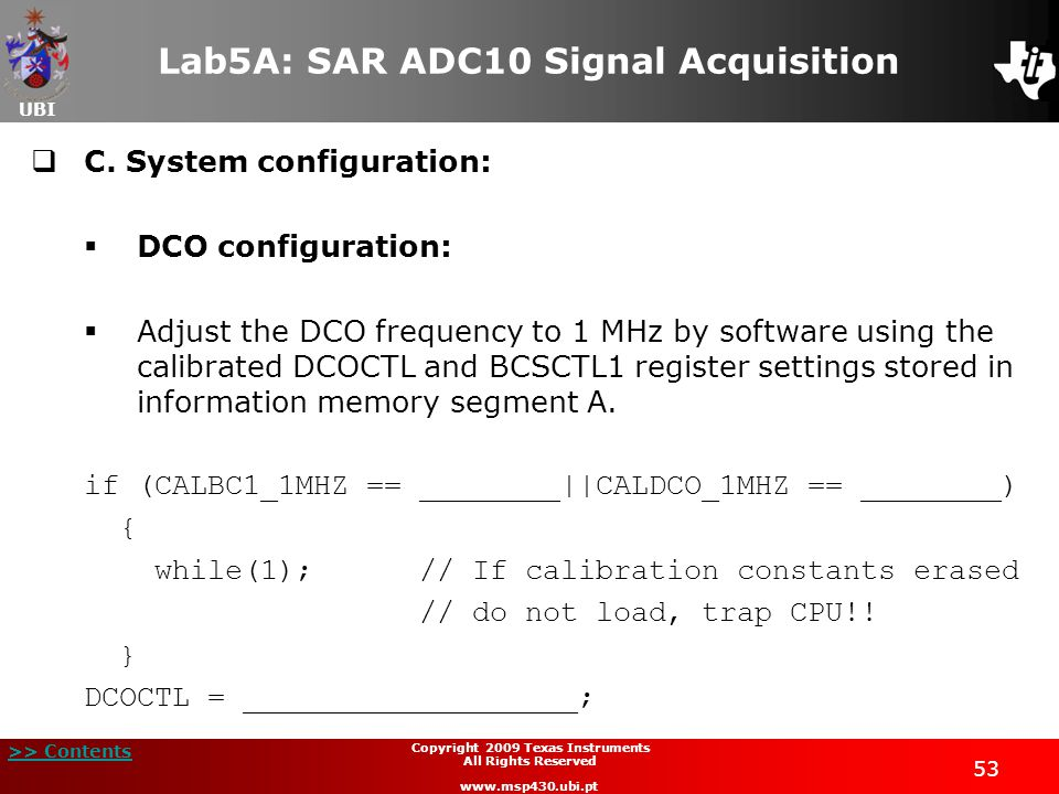 Lab5A: SAR ADC10 Signal Acquisition