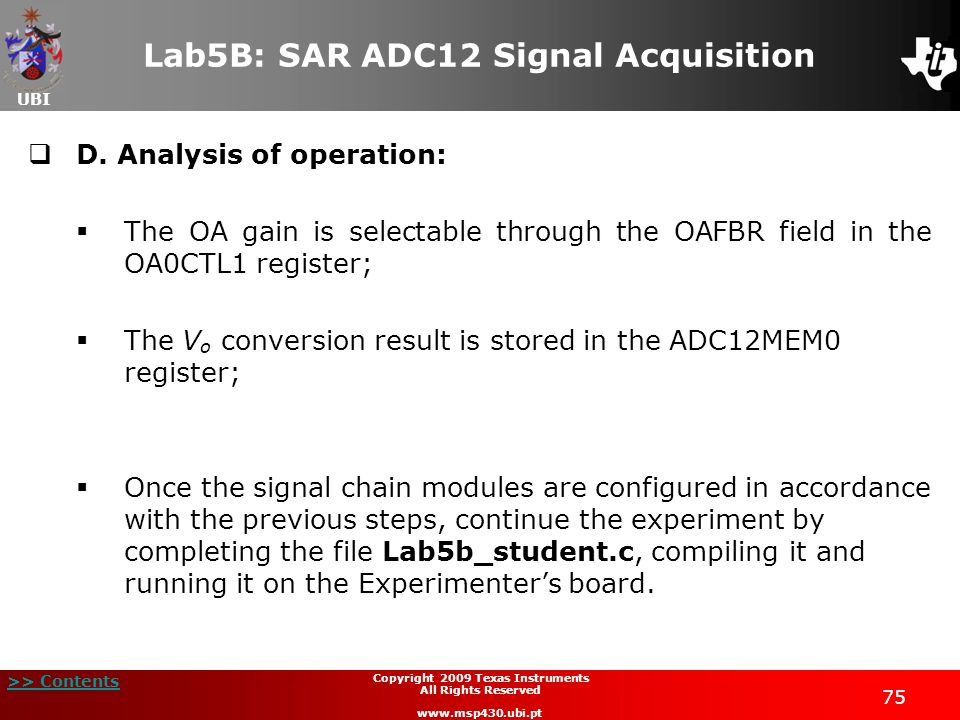 Lab5B: SAR ADC12 Signal Acquisition