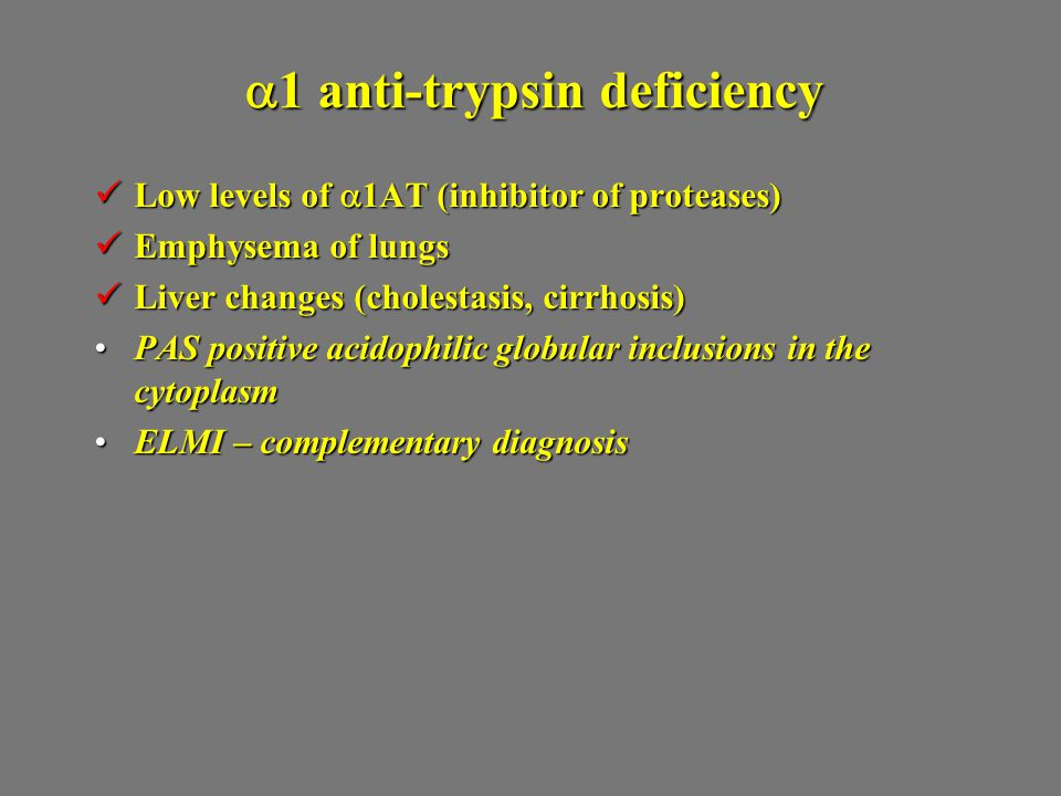 a1 anti-trypsin deficiency