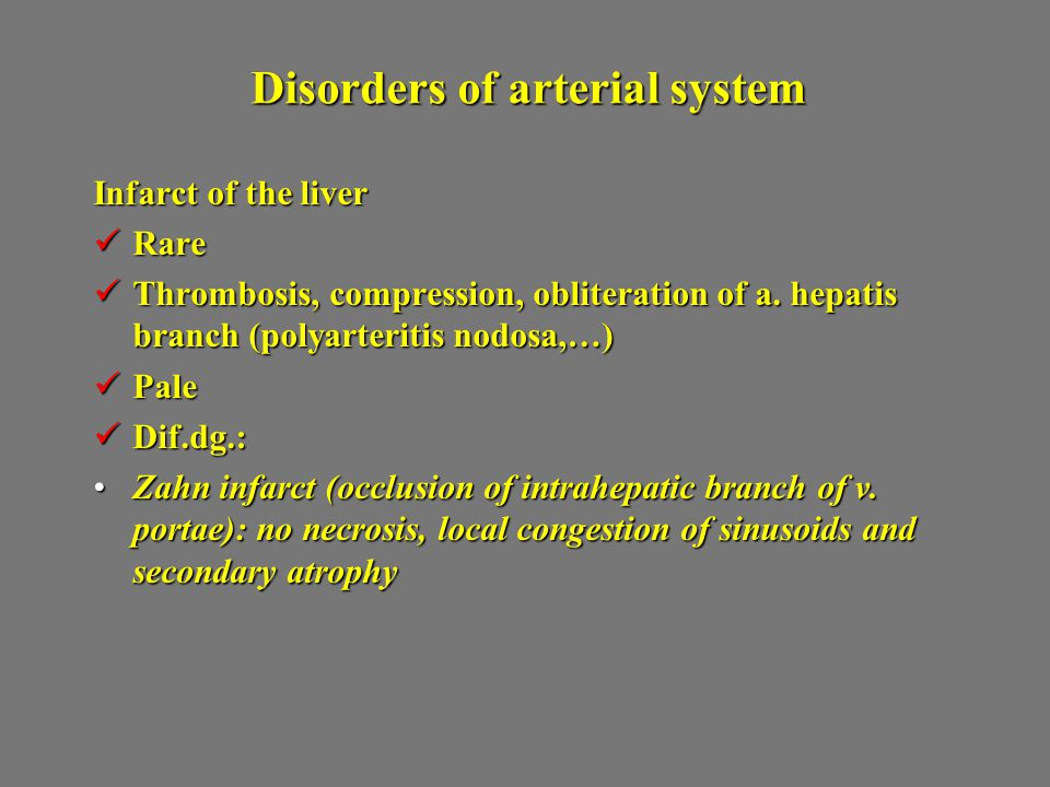Disorders of arterial system