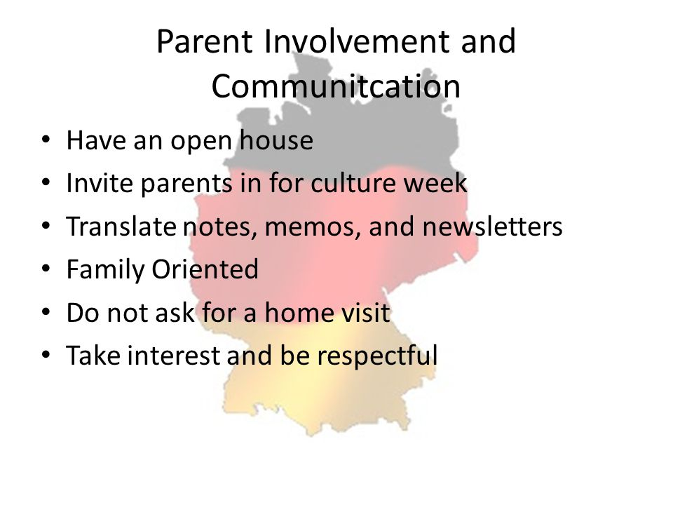 Parent Involvement and Communitcation