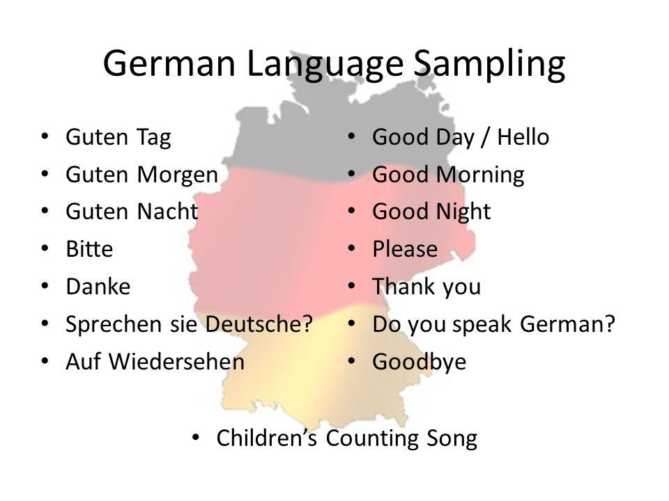 German Language Sampling