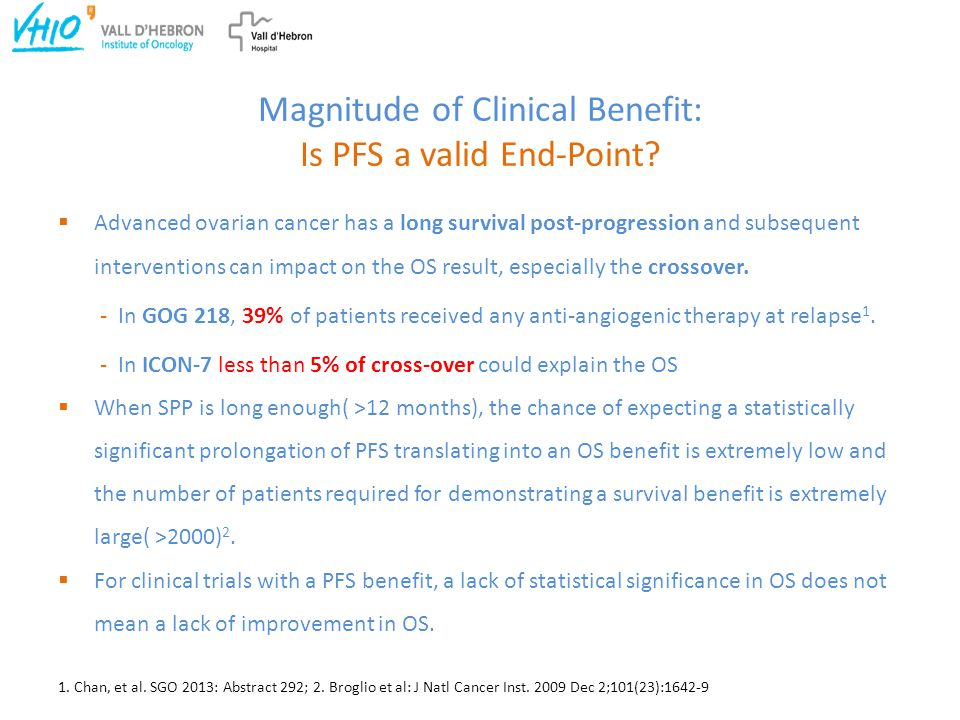 Magnitude of Clinical Benefit: Is PFS a valid End-Point