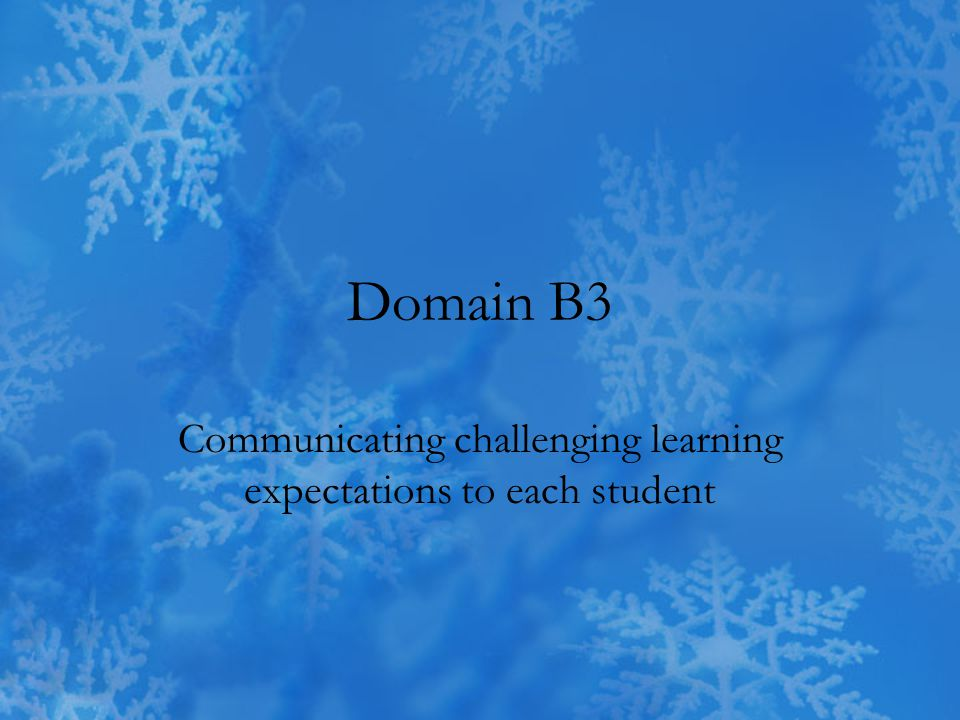 Communicating challenging learning expectations to each student