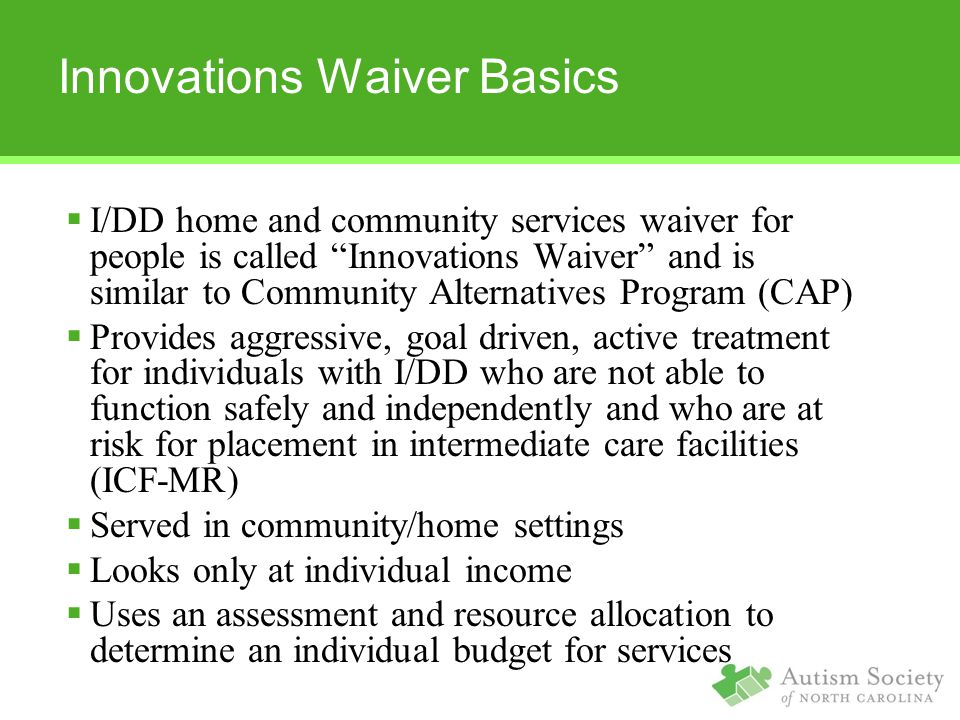 Innovations Waiver Basics
