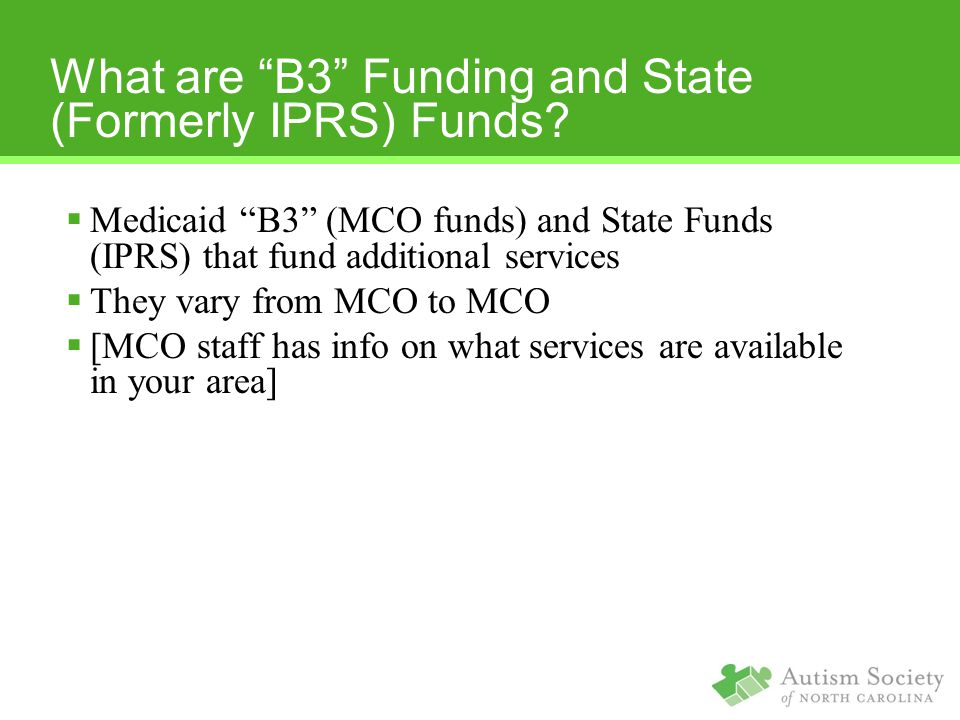 What are B3 Funding and State (Formerly IPRS) Funds