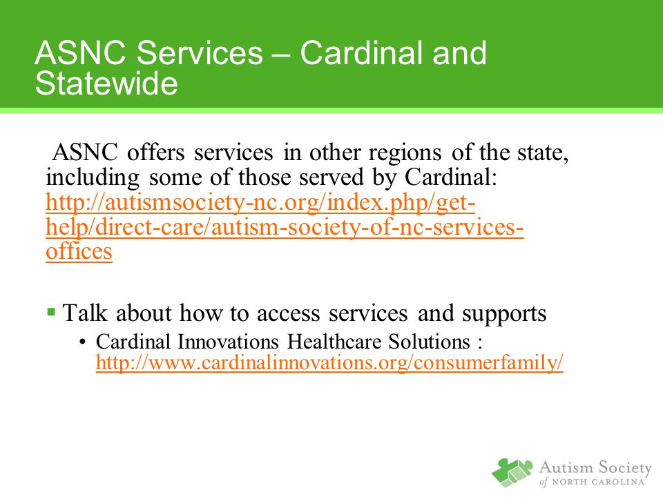 ASNC Services – Cardinal and Statewide