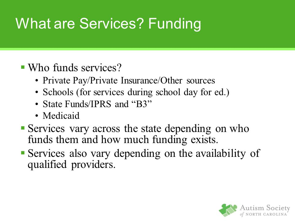 What are Services Funding
