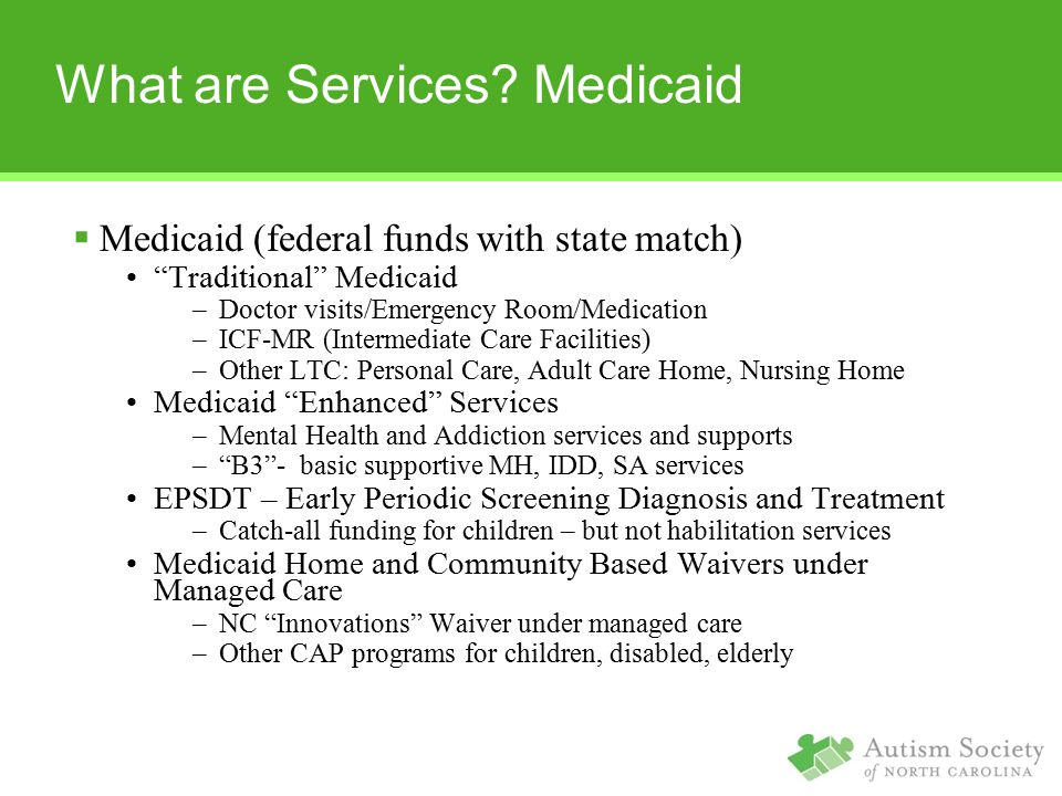 What are Services Medicaid