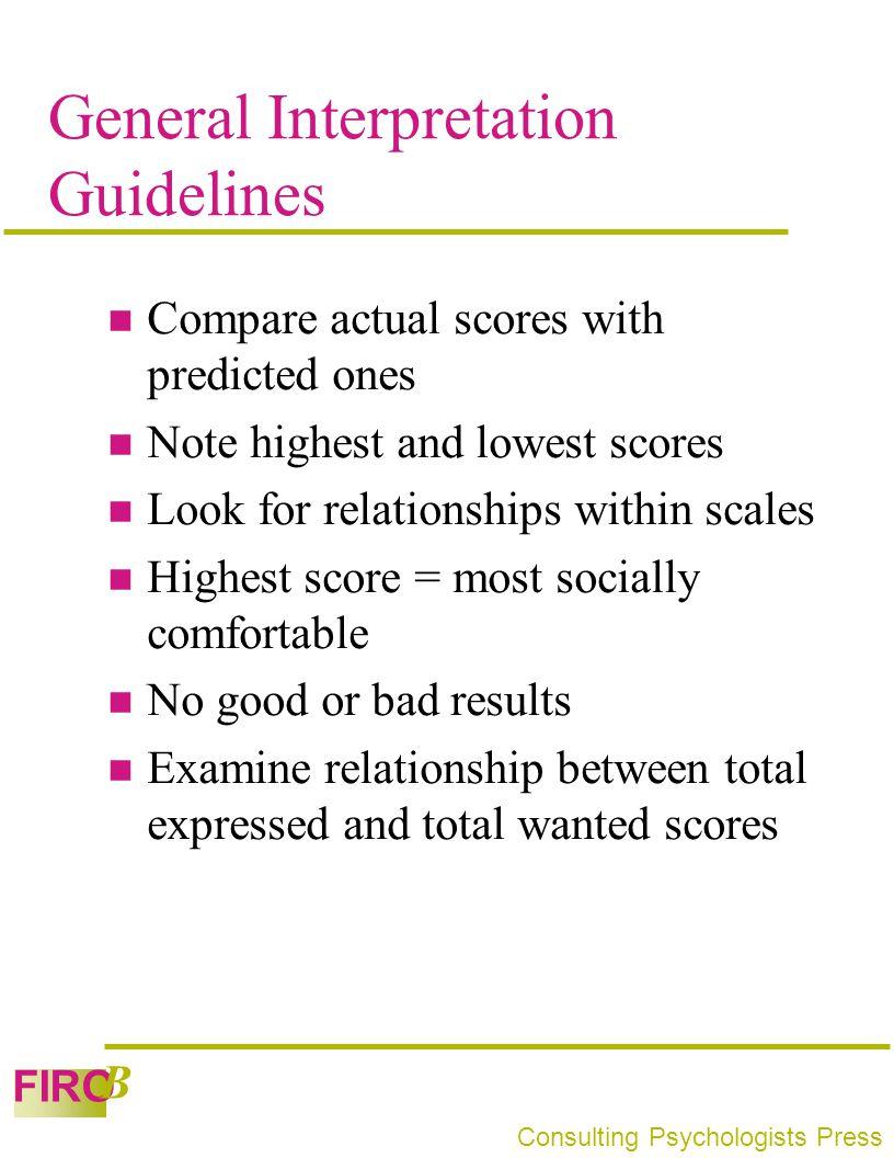 General Interpretation Guidelines