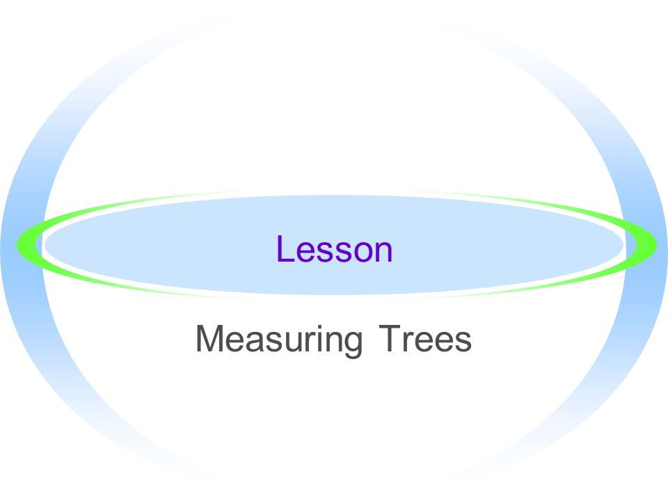 Lesson Measuring Trees
