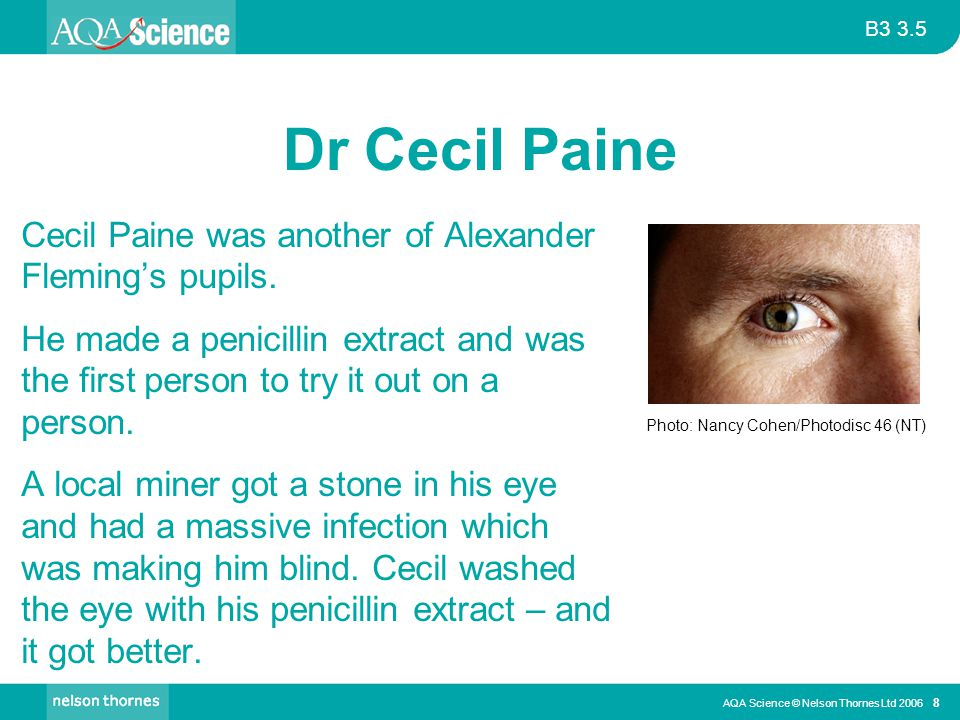 Dr Cecil Paine Cecil Paine was another of Alexander Fleming's pupils.