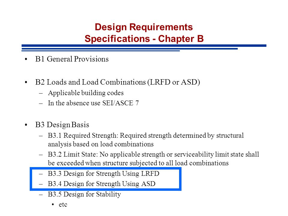 Design Requirements Specifications - Chapter B