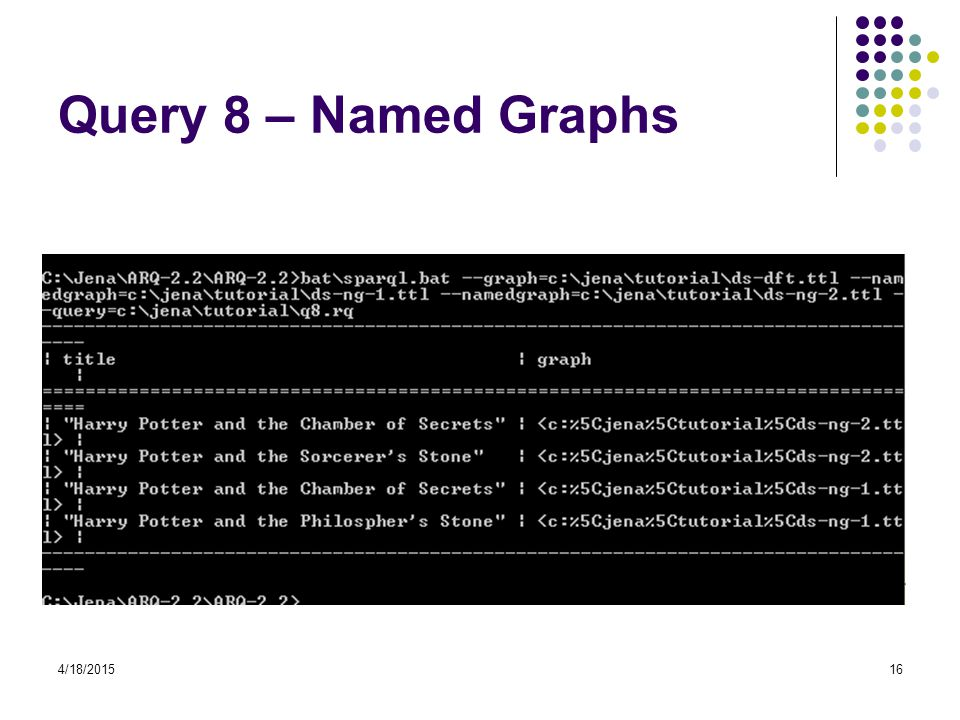Query 8 – Named Graphs 4/11/2017