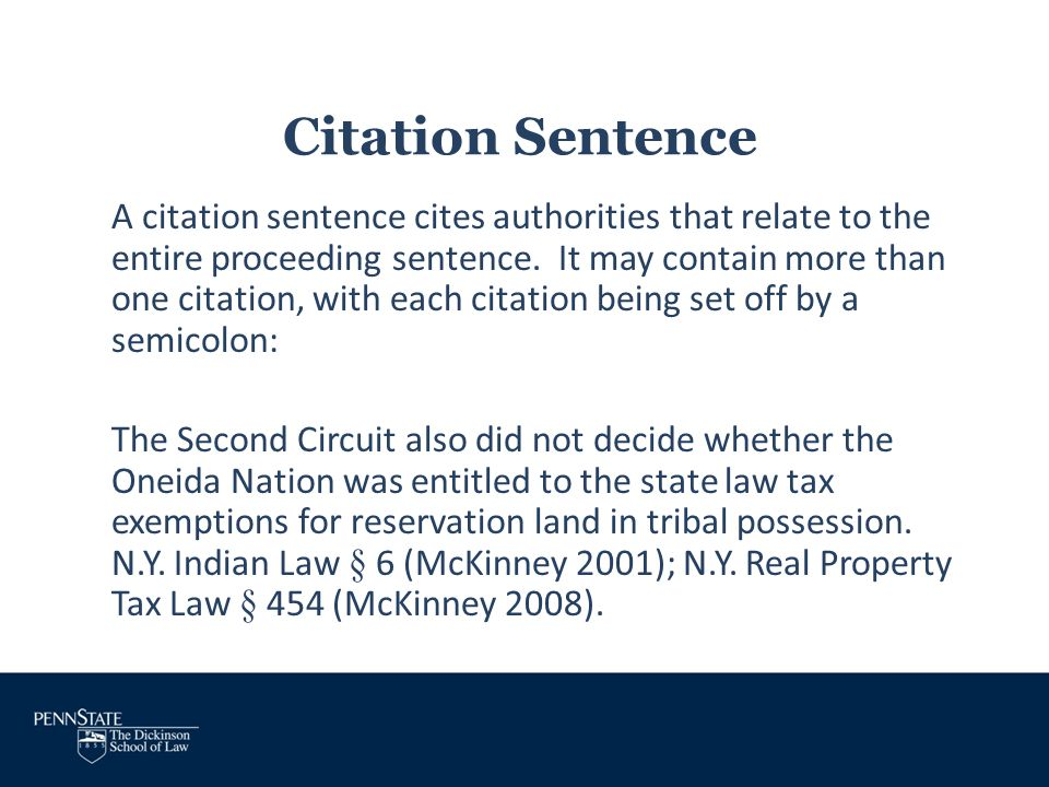 Citation Sentence