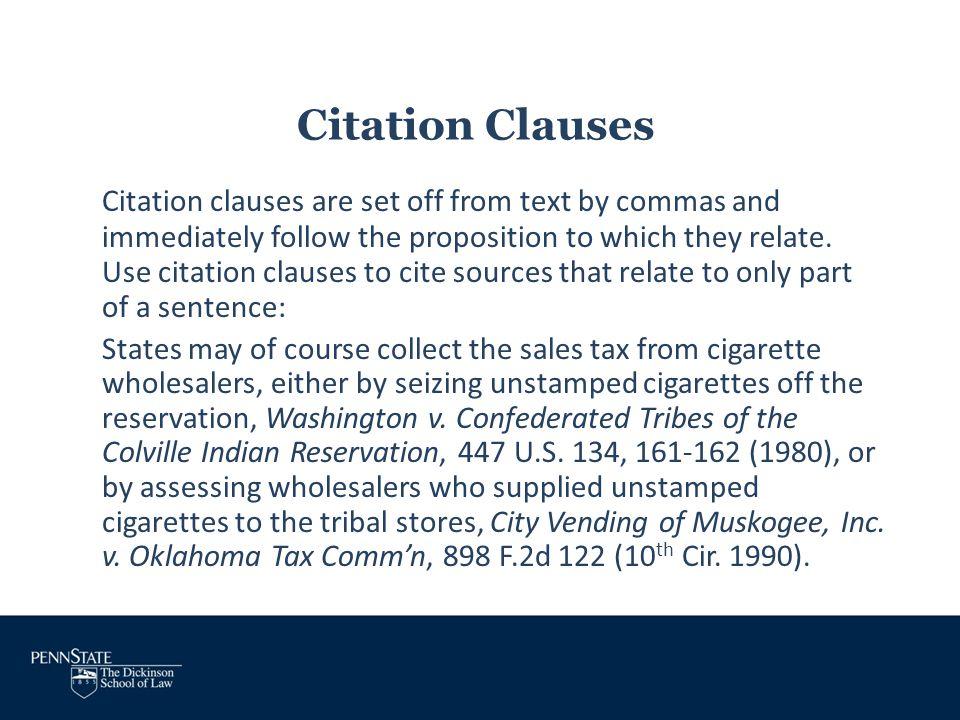 Citation Clauses