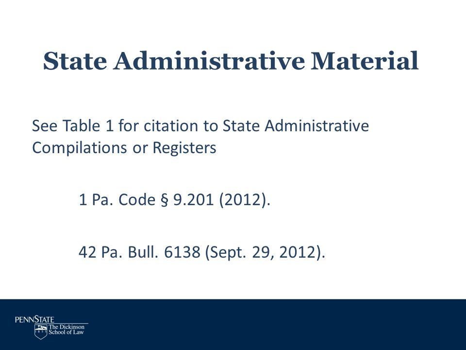 State Administrative Material