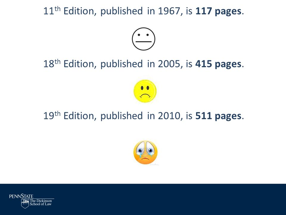 11th Edition, published in 1967, is 117 pages