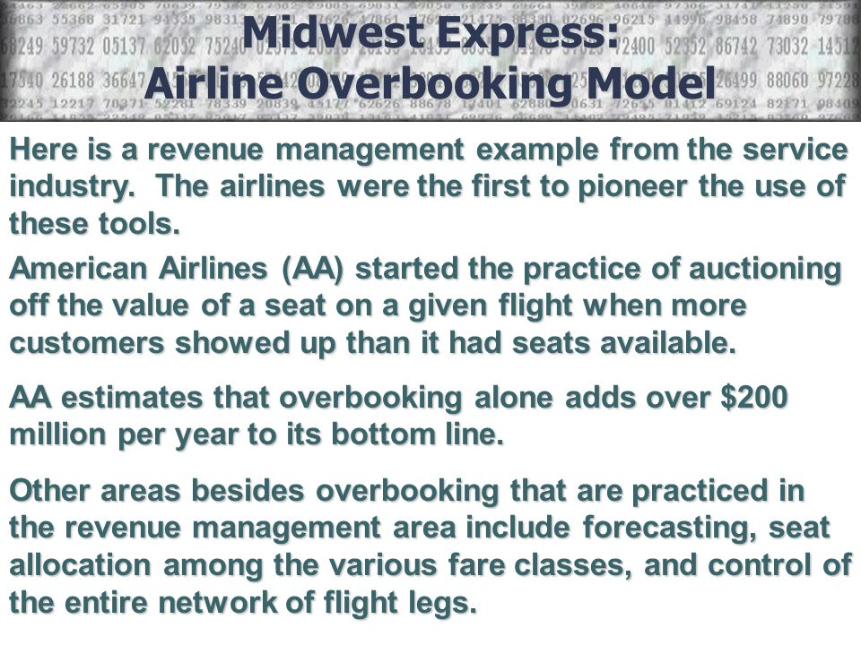 Airline Overbooking Model