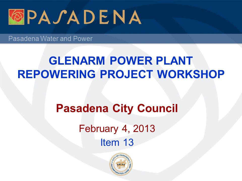 GLENARM POWER PLANT REPOWERING PROJECT WORKSHOP