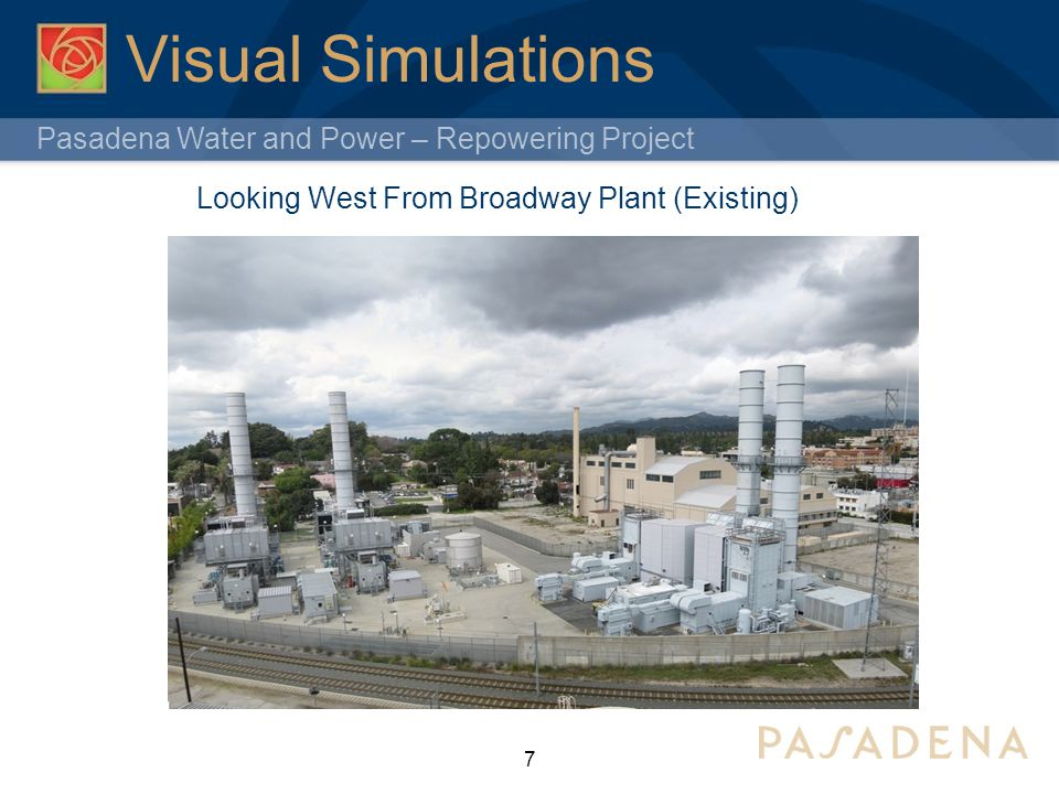Visual Simulations Looking West From Broadway Plant (Existing)