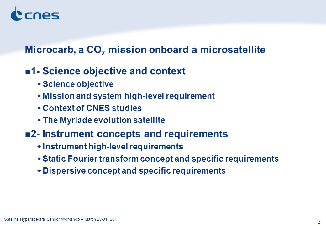 Microcarb, a CO2 mission onboard a microsatellite