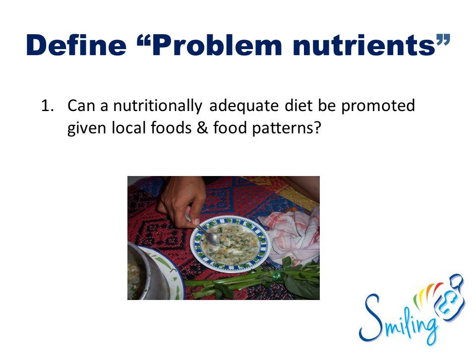Define Problem nutrients