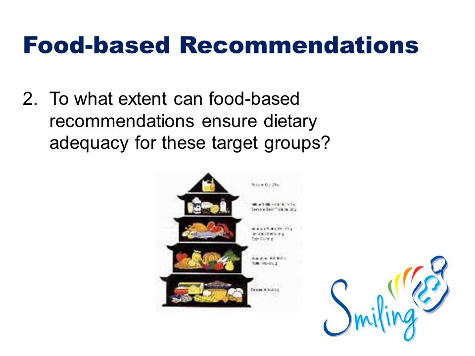 Food-based Recommendations