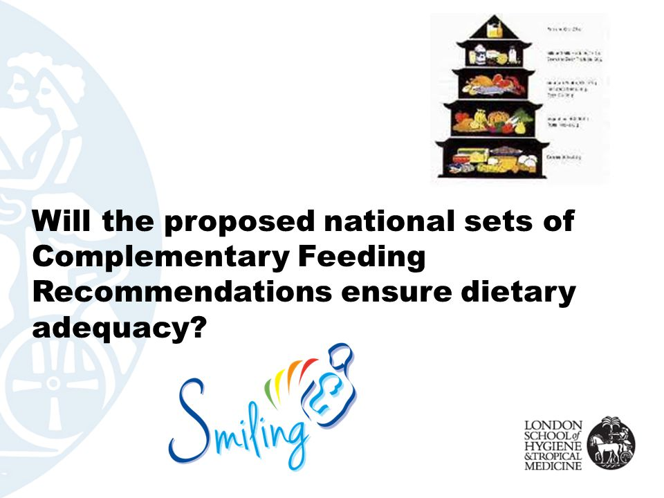 Will the proposed national sets of Complementary Feeding Recommendations ensure dietary adequacy
