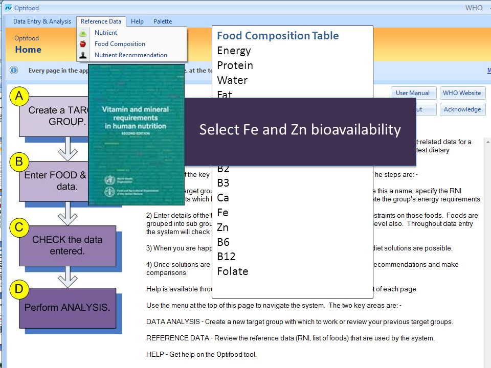 Select Fe and Zn bioavailability