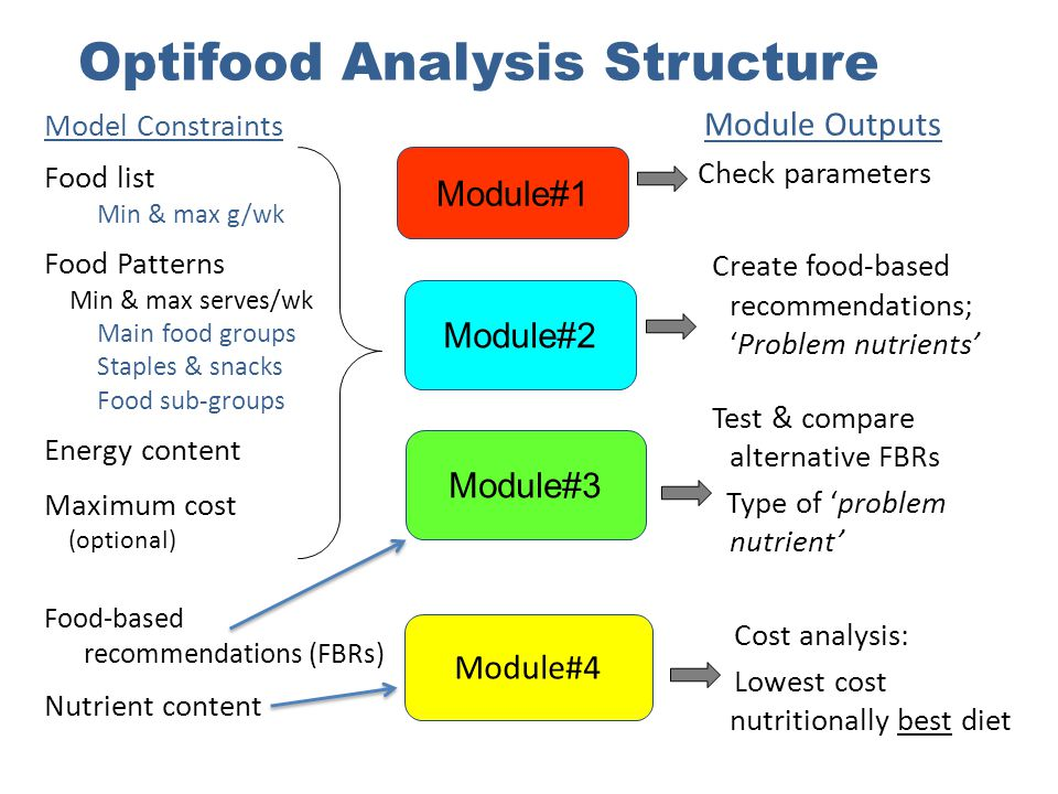Optifood Analysis Structure