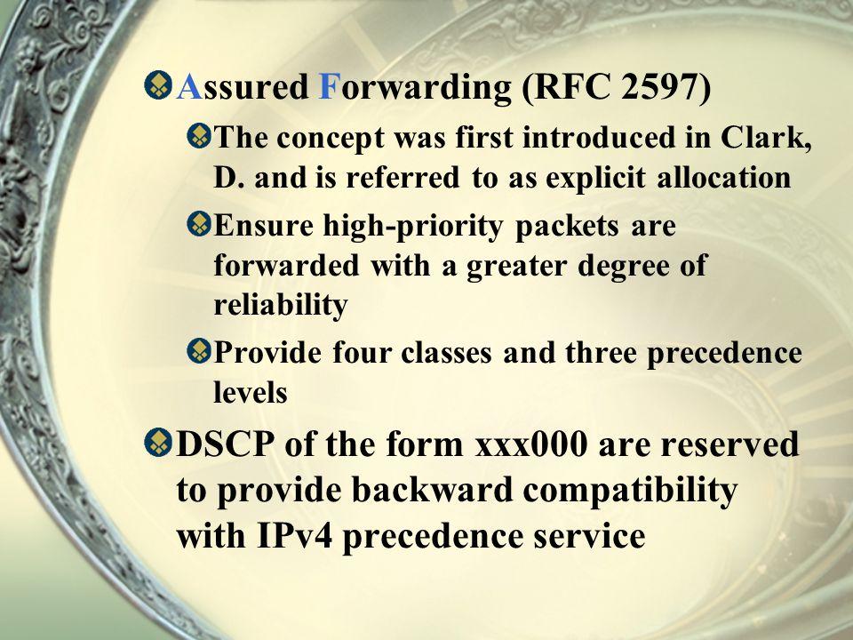 Assured Forwarding (RFC 2597)